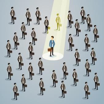 Candidato de recrutamento de recursos humanos do empresário spotlight