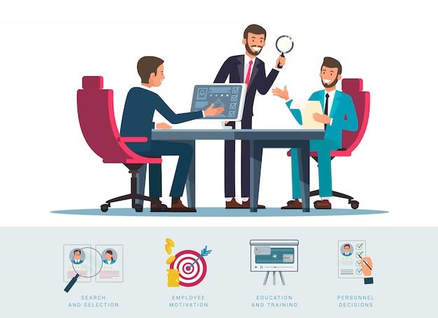 Candidatos pesquisar ilustração plana