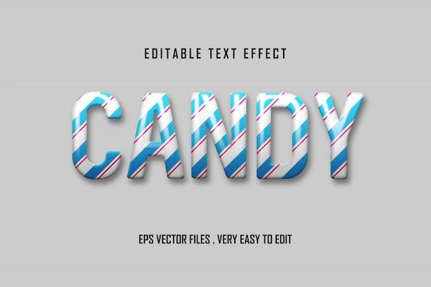 Candy - efeito de texto premium, texto editável