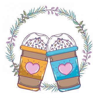 Caneca de café gelado isolado
