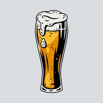 Caneca de cerveja colorida com menu de bar e pub retrô de espuma. copos para o festival bávaro de outubro