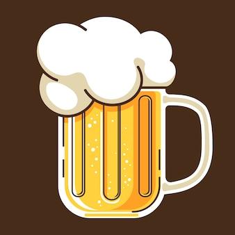 Caneca de cerveja estilo cateoon