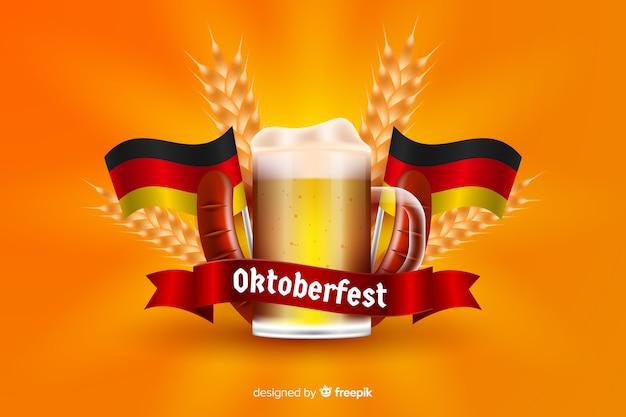 Caneca de cerveja oktoberfest realista