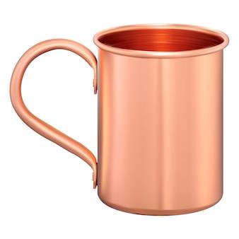 Caneca de metal. copo turístico de cobre. café, balão de chá