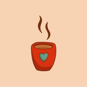 Caneca de natal com leite com chocolate símbolo social media post ilustração vetorial de natal
