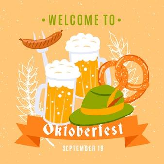 Canecas de cerveja da celebração de oktoberfest