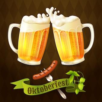 Canecas de cerveja octoberfest