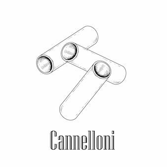 Canelones de massas italianas.