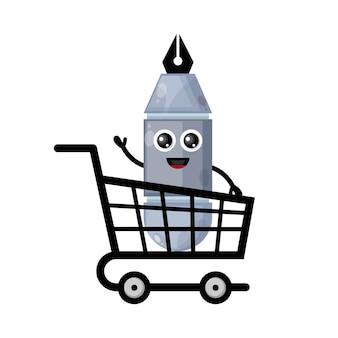 Caneta carrinho de compras