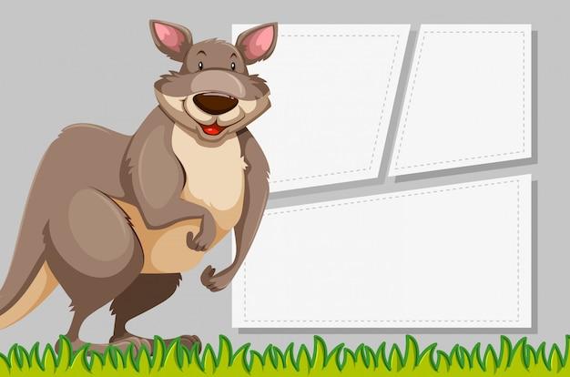 Canguru no modelo de nota