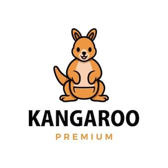 Canguru polegar para cima mascote personagem logotipo icon ilustração