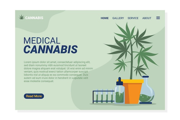 Cannabis medicinal - página de destino
