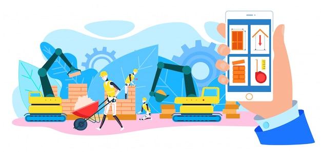 Canteiro de obras de construtores de robô