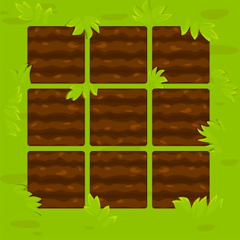 Canteiros verdes na estrutura