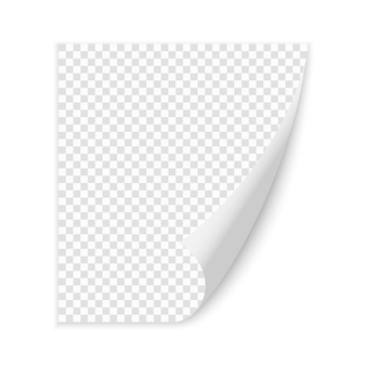 Canto ondulado da página em branco de papel com sombra. ilustração do modelo vetorial para seu design