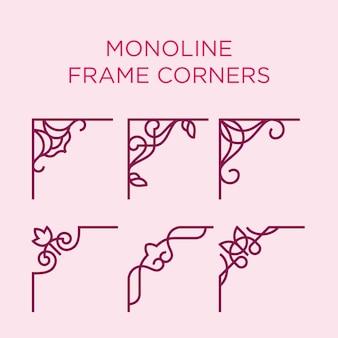 Cantos da estrutura monoline