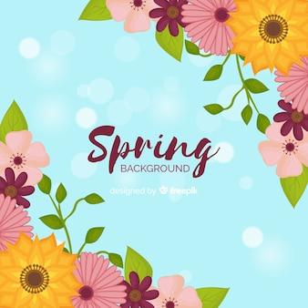 Cantos florais primavera fundo