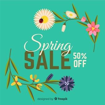 Cantos florais primavera venda fundo