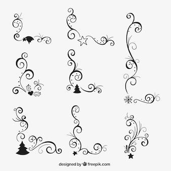 Cantos natal ornamentais