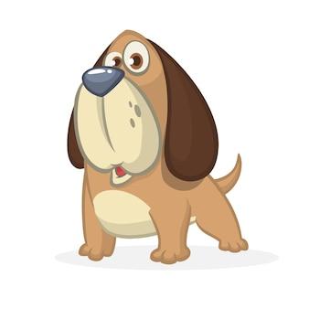 Cão biegle dos desenhos animados