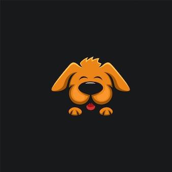 Cão bonito design ilustration