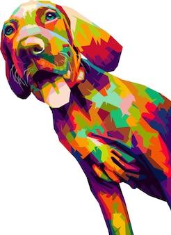 Cão colorido pop art design