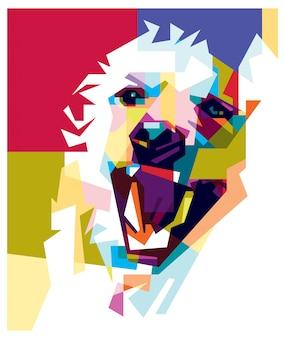 Cão colorido