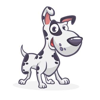 Cão dálmata engraçado dos desenhos animados