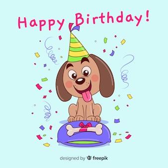 Cão de aniversário