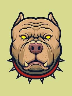 Cão irritado pitbull