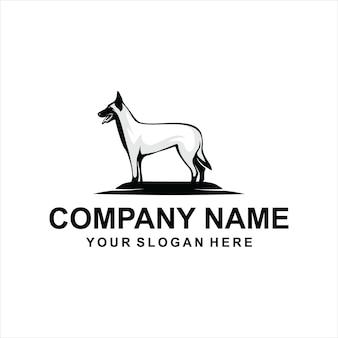 Cão malinois belga logotipo