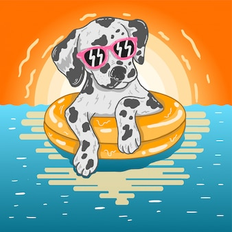 Cão no verão