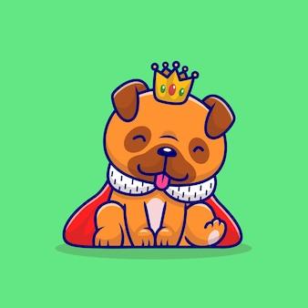 Cão pug fofo rei