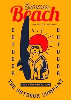Cão surf