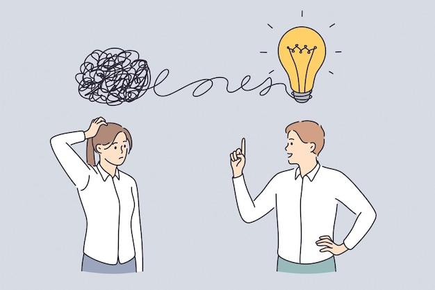 Caos de pensamento proativo e reativo e conceito de ordem na mente
