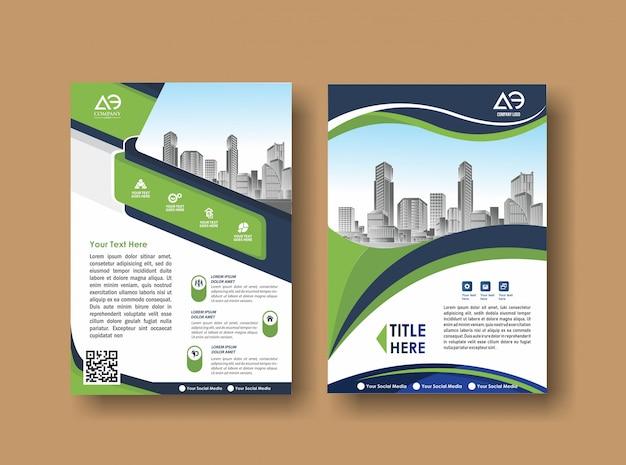 Capa abstrata e layout para apresentação e marketing