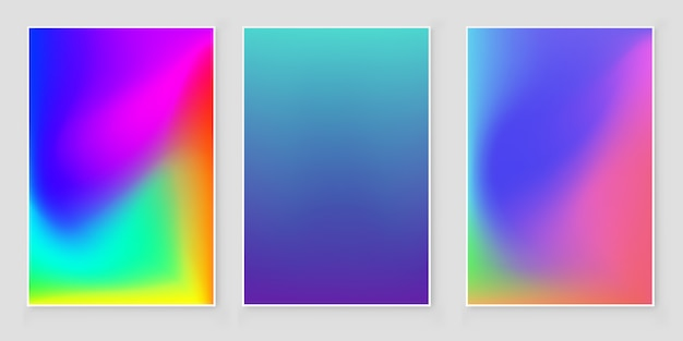 Capa abstrata gradiente de cores brilhantes.