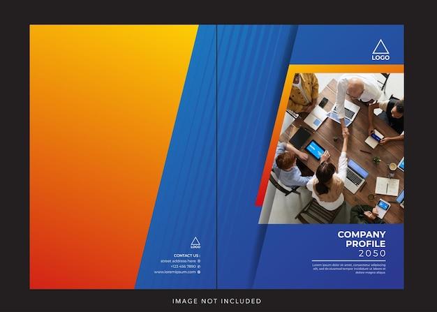 Capa azul do perfil corporativo da empresa