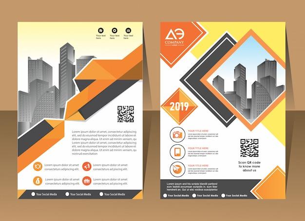 Capa brochura layout folheto cartaz fundo relatório anual
