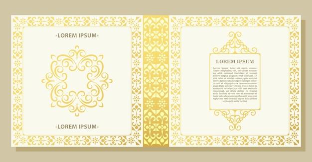 Capa clássica de padrão de ornamento de luxo
