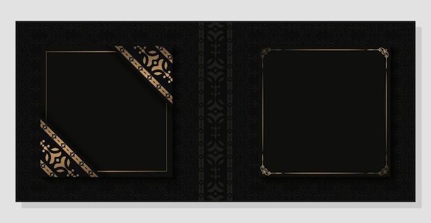 Capa clássica luxuosa com ornamento escuro
