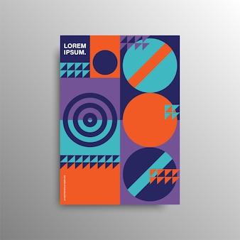 Capa colorida geométrica. composição mínima de formas geométricas. conceito criativo mínimo. estoque .