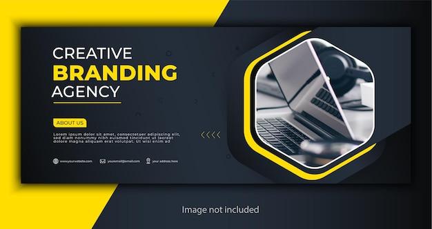 Capa corporativa ou modelo de banner da web