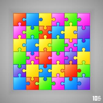 Capa de arte de banner de fundo de quebra-cabeça. ilustração vetorial