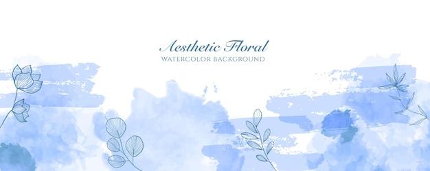 Capa de banner largo de aquarela ou publicidade de página da web. aquarela abstrata splatter modelo de plano de fundo vector vertical largo brilhante azul claro. para beleza, casamento, maquiagem, joias. feminino romântico