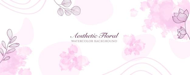 Capa de banner largo de aquarela ou publicidade de página da web. aquarela abstrata splatter rosa pastel brilhante modelo de fundo vector vertical largo. para beleza, casamento, maquiagem, joias. feminino romântico