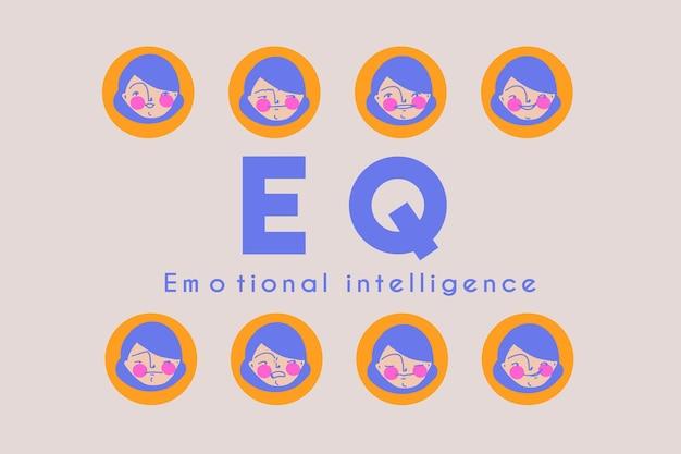 Capa de banner pré-fabricada de inteligência emocional eq