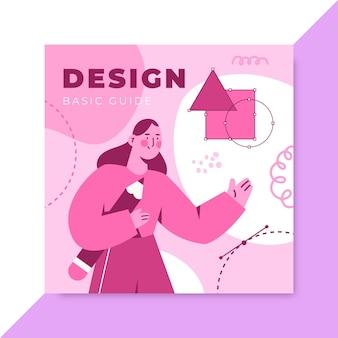 Capa de cd com design monocromático desenhado à mão