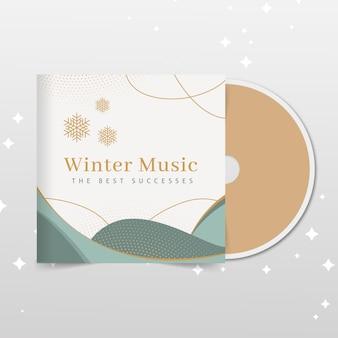 Capa de cd de inverno elegante e abstrata