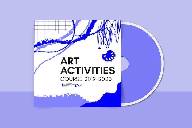 Capa de cd educacional com pintura abstrata em monocolor